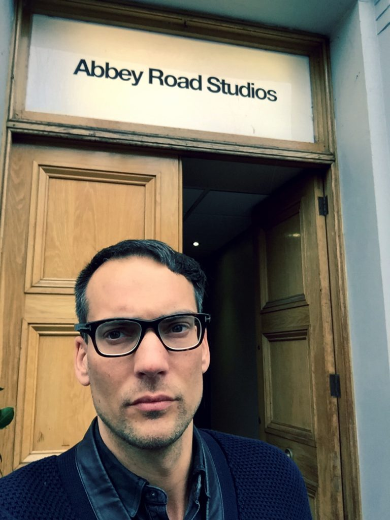 Recording at Abbey Road for movie 'Ronaldo'