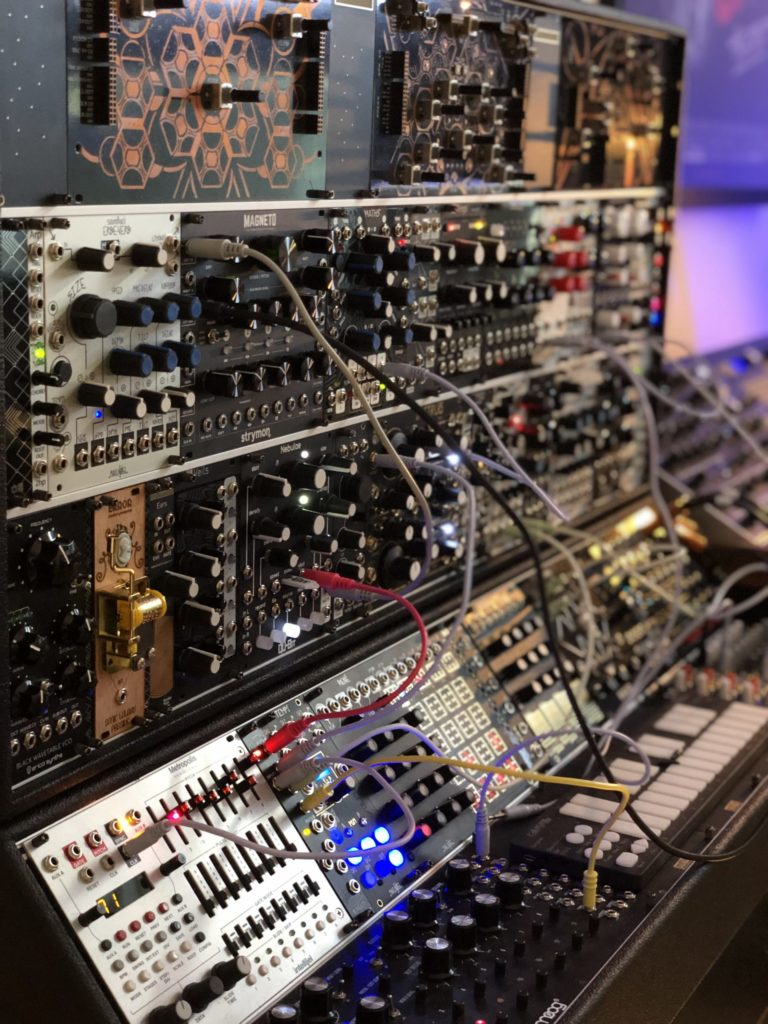 custom modular synth rack