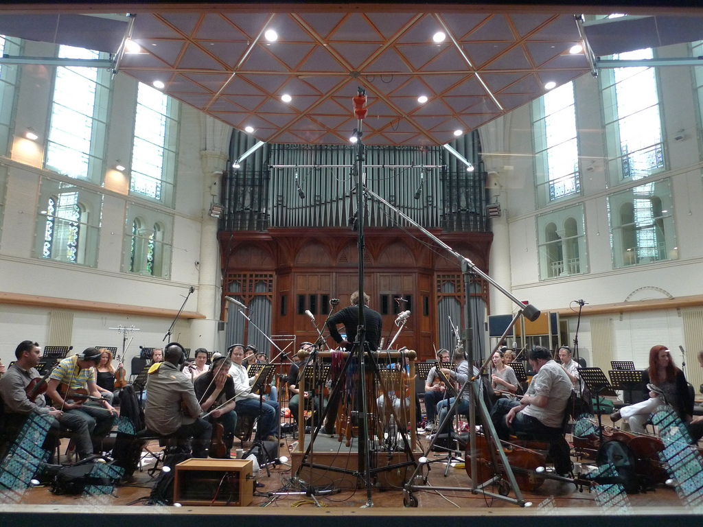 Orchestra recording at Air Studios for film 'Marvel Universe'