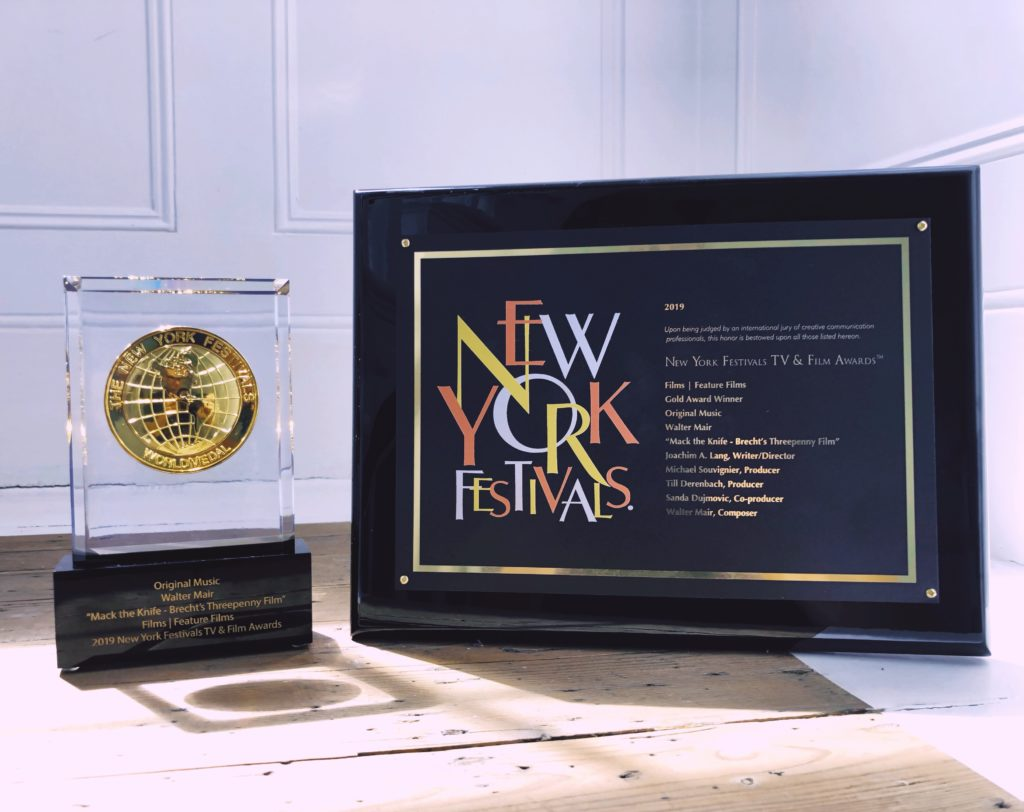 New York Festival win – Best Original Music