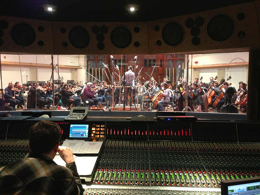Orchestra recording at Air Studios for 'Killzone'
