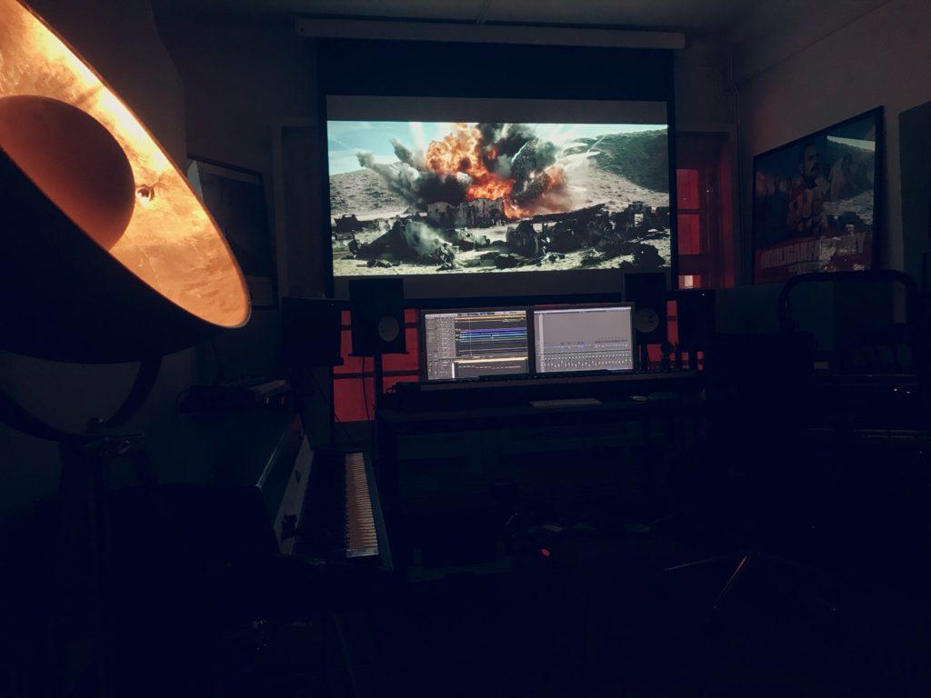 score prep at Soho Studio for 'Call of Duty'