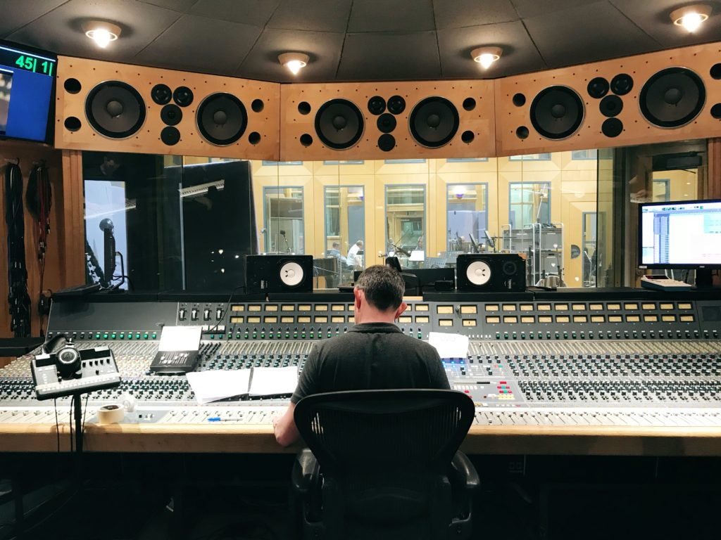 Rupert Coulson recording the orchestra for Who Stole The Cup' at Air Studios