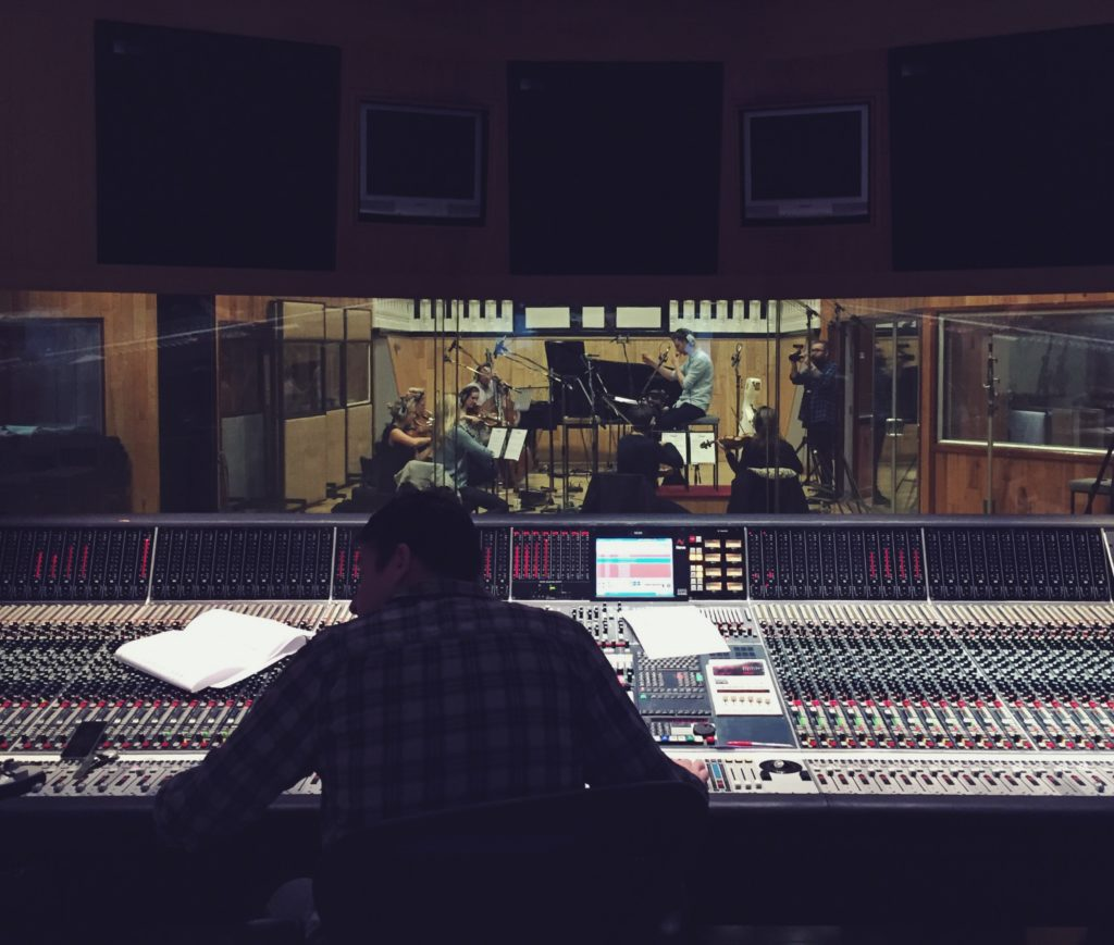 Recording for 'The Same Sky' at Angel Studios
