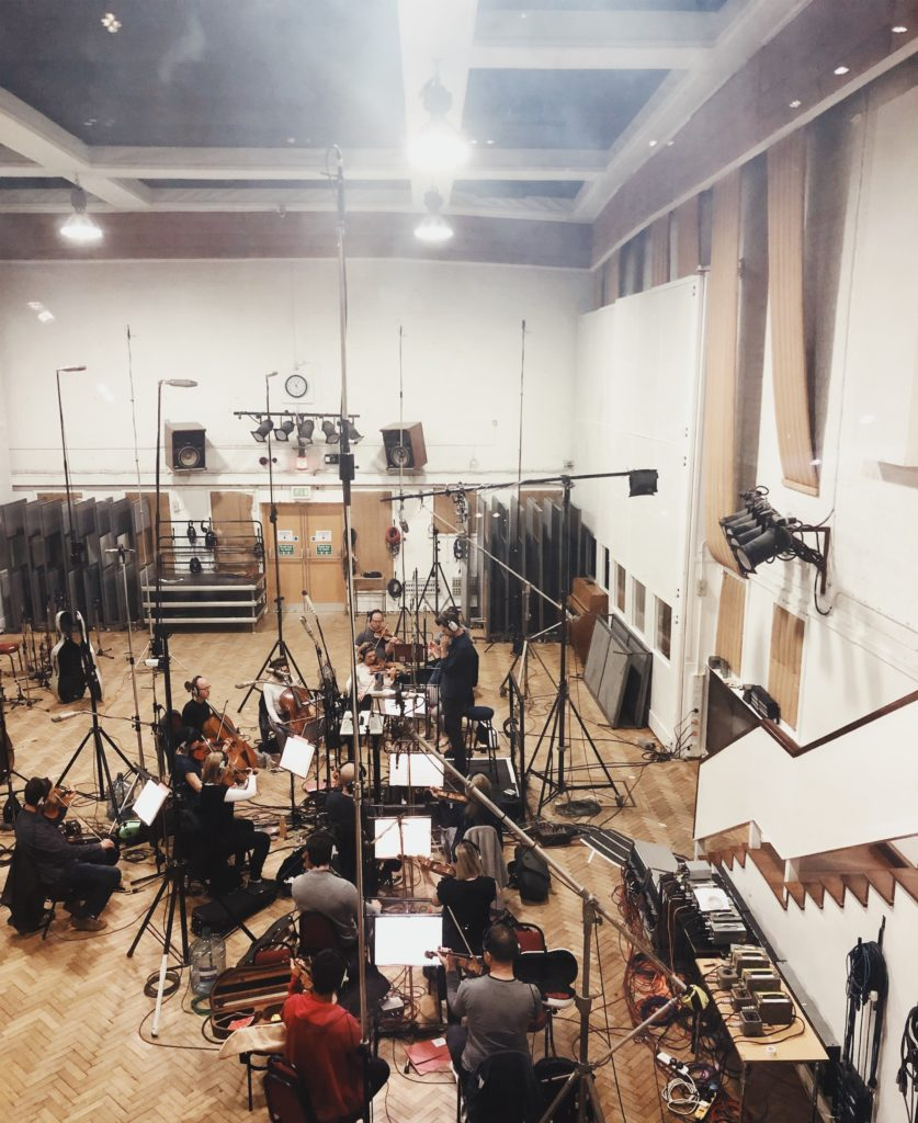 Recording at Abbey Road for movie 'Balance not Symmetry'