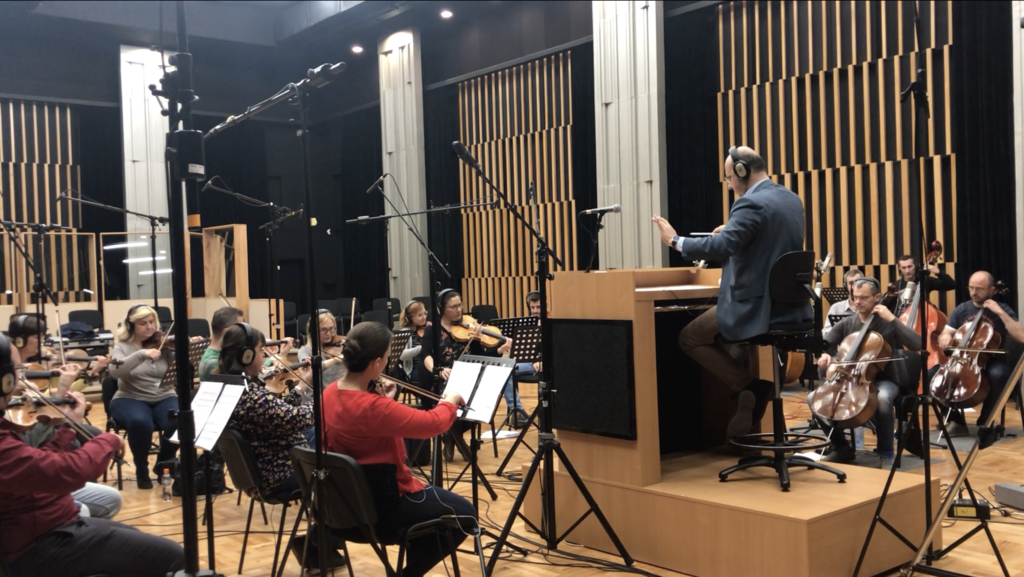 Orchestra recording for movie 'The Unfamiliar'