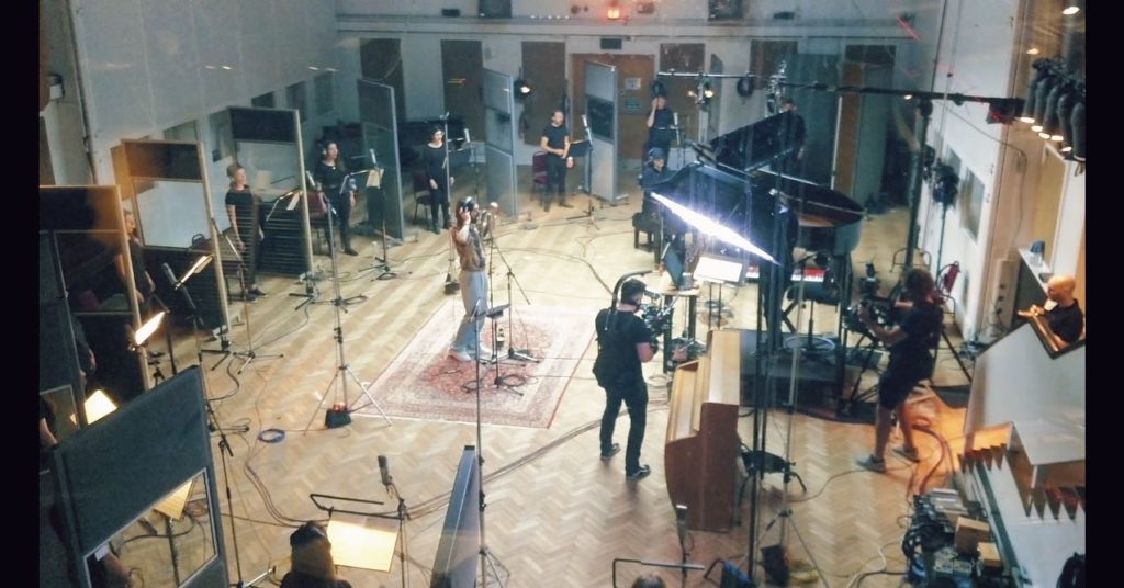 Recording at Abbey Road with band Biffy Clyro