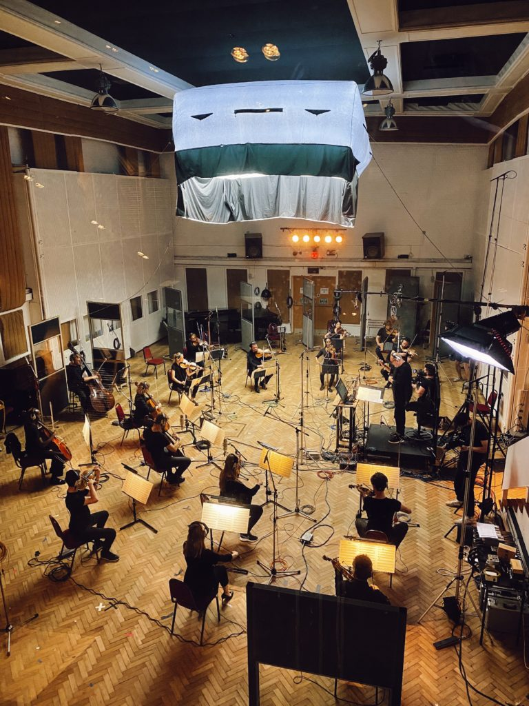orchestra recording at Abbey Road with Biffy Clyro