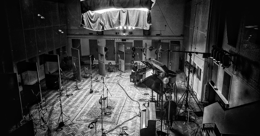 SPiano recording with Biffy Clyro at Abbey Road