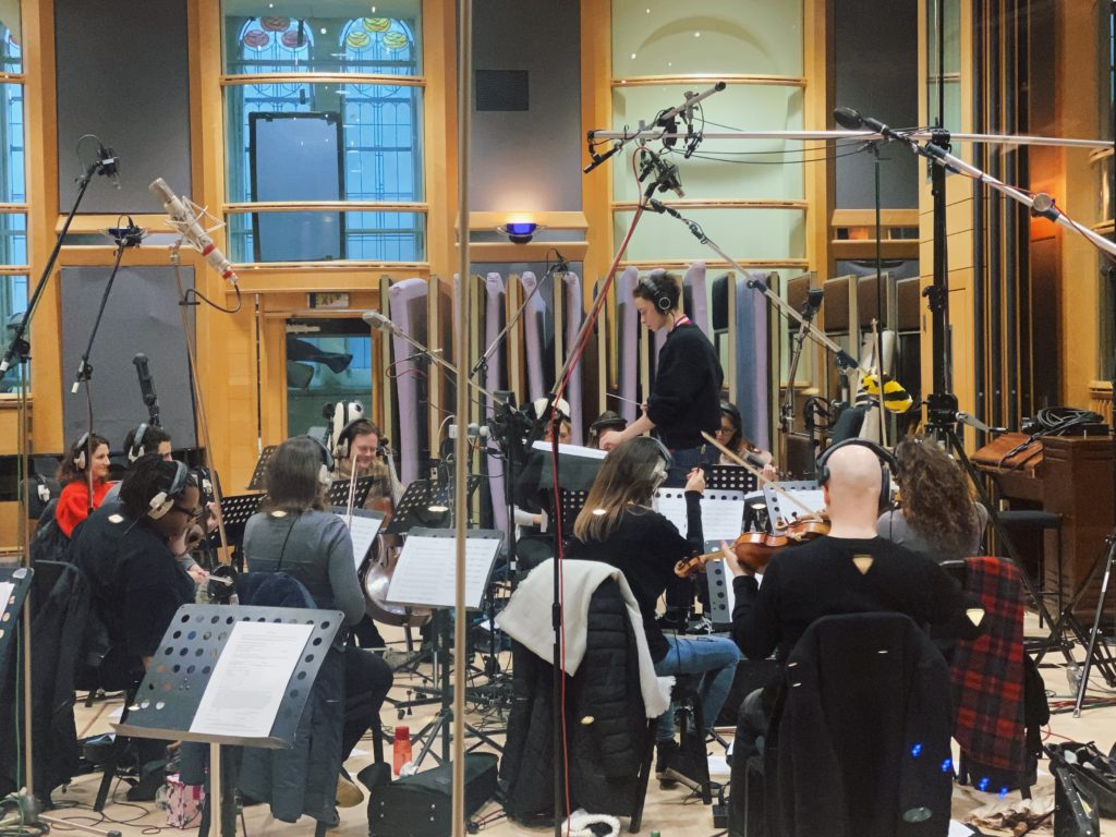 String recording for 'Metamorphosis'